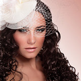 Glamourous bride portrait