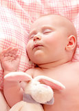 Newborn baby asleep