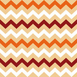 Thanksgiving Orange, White and Brown seamless Chevron pattern