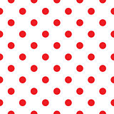 Red polka dot seamless pattern design
