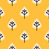 Thanksgiving yellow seamless pattern with leaves
