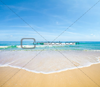 Sea or ocean landscape natural background.