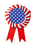 USA flag guarantee seal with ribbon