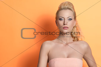 portrait of sensual blonde female
