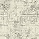 Seamless pattern vehicles design