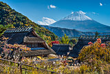 Mt Fuji and A Village
