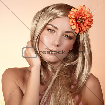 Charming woman portrait