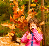 Happy child in autumn