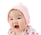 Portrait of happy Asian baby girl