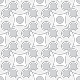 Simple black and white vector seamless geometric pattern