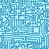 Electronic digital circuit board - seamless vector pattern