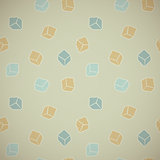 Vector abstract background - color cubes in vintage style