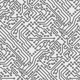 Circuit board vector computer seamless pattern