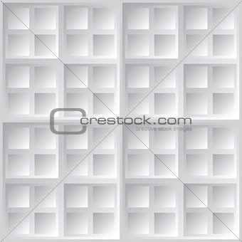 Abstract geometric square gray vector background