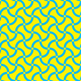 Vector modern seamless yellow and blue geometric pattern