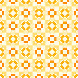 Retro seamless geometric orange vector pattern