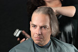 Mourning Man Getting Long Hair Shaved Off For Cancer Fundraiser