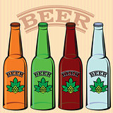 set of bottles of beer