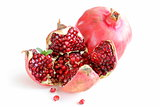 red juicy ripe organic pomegranate fruit