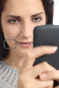 Portrait of a woman browsing her smart phone