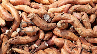 Sweet potato yam carbohydrate background