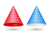 Red and Blue Party Hats