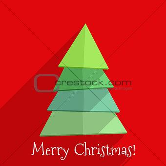 Flat Christmas Tree Design