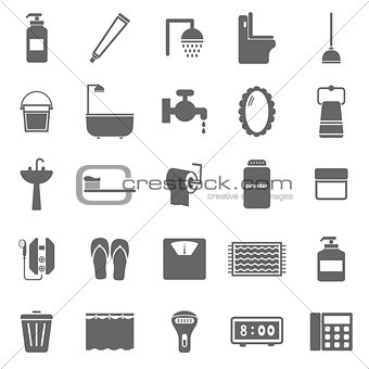 Bathroom icons on white background