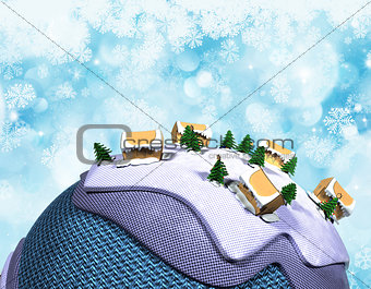 Cartoon style Christmas background