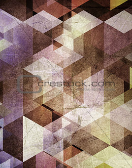 Grunge geometric background