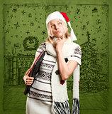Woman Waiting For Christmas