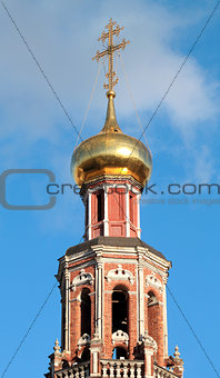 fragment of a beautiful bell tower