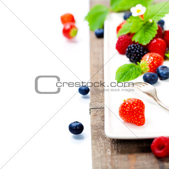 Assorted berries