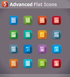 Vector flat file type icons