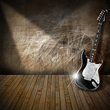 Electric Guitar in Interior Grunge Room