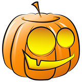 Vector smiling pumpkin. The symbol of Halloween