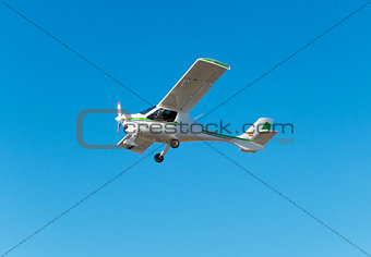 Small airplane in the air