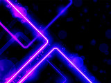 Blue Purple  Lines Background Neon Laser