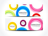 abstract colorful web banner set