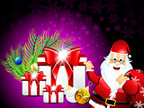 Christmas Background With Girf Box