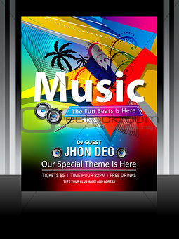 Colorful Music Flayer Design