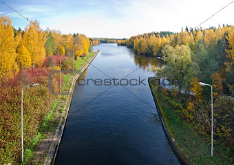 Autumn river scene