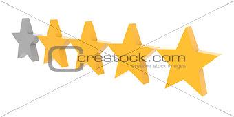 Four stars rating.