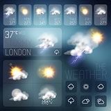 Modern Weather symbols and Interface