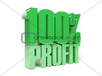 3D text 100% profit.