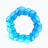 Light Blue Leaf Wreath