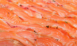 Thin slices of the trout