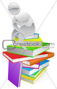 Thinking thinker on books