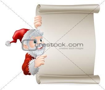 Cartoon Santa Christmas Scroll