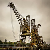 Rusty cranes at Battersea power station
